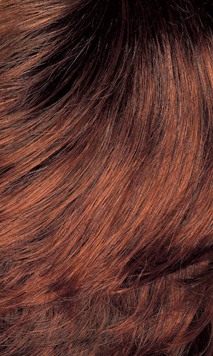 Henry Margu Wigs | 131GR | Fire red with auburn highlights and dark brown roots
