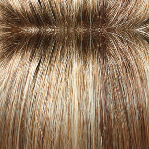 Hair Pieces Women - Color MED ASH BLONDE & MED RED GOLDEN BLONDE BLEND W LIGHT BROWN SHADED ROOT (14/26S10)