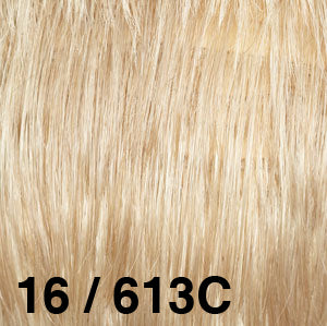 Dream USA Wigs | 16-613C Honey Blonde (16) base with Bleach Blonde (613) chunked highlights
