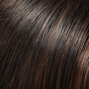 Jon Renau Wigs | 1BRH30 CHOCOLATE PRETZEL | Soft Black with 33% Gold-Red Highlights