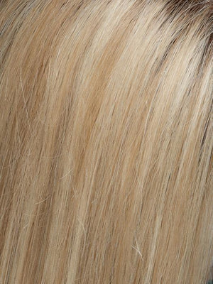 Jon Renau Wigs | 22F16S8 VENICE BLONDE | Lt Ash Blonde & Lt Natural Blonde Blend, Shaded w/ Med Brown