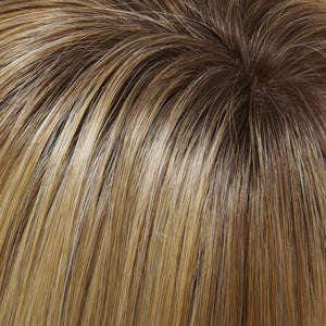Jon Renau | 24B/27CS10 SHADED BUTTERSCOTCH | Light Gold Blonde and Medium Red-Gold Blonde Blend, Shaded with Light Brown