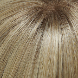 24B613S12 | Med Natural Ash Blonde & Pale Natural Gold Blonde Blend and Tipped Shaded w/ Lt Gold Brown