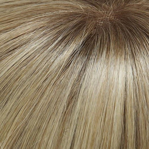 24B613S12 | Light Gold Blonde and Warm Pale Natural White/Blonde Blend, Shaded with Light Gold Brown