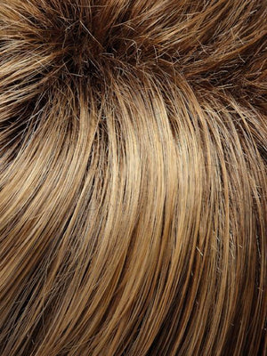 24BT18S8 | Medium Natural Ash and Light Natural Gold Blonde Blend Shaded with Medium Brown