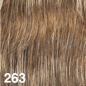 Dream USA Wigs | 263  Medium Chestnut Brown (6) blended with Butterscotch Blonde (88) highlighted with Light Champagne Blonde (22L)