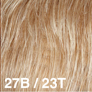 Dream USA Wigs | 27B/23T  Strawberry Blonde (27) blended and tipped with Pale Blonde (23)
