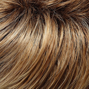 Jon Renau Wigs | 27T613S8 | Medium Natural Red-Gold Blonde and Pale Natural Gold Blonde Blend and Tipped, Shaded with Medium Brown