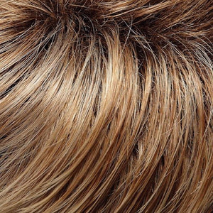 Jon Renau | 27T613S8-Shaded Sun-Medium Natural Red Gold Blonde & Pale Natural Gold Blonde Blend & Tipped-Shaded With Medium Brown