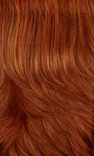 29H | Dark auburn with copper red & fire red highlights