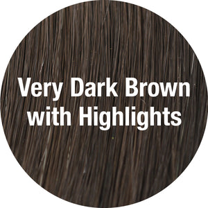 TressAllure Wigs | Very Dark Brown with Highlights