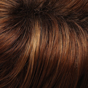 Jon Renau Wigs | 30A27S4 | Medium Red and Medium Red-Gold Blend, Shaded with Dark Gold Brown Roots