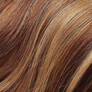 Remy Hair Extensions - Color AMBER RED, STRAWBERRY BLONDE & HONEY BLONDE BLEND (31F)