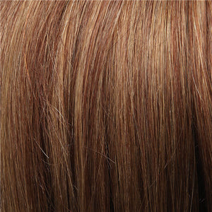 Clip in Bangs - Color AMBER RED & CARAMEL BLONDE BLEND (31/26)