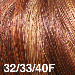 Dream USA Wigs | 32/33/40F  Light Auburn (32) blended with Burgundy (33) frosted with Bright Gold Blonde (40)