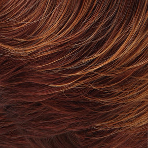 Angelique Wig by Jon Renau | Med Natural Red Base w/ Med Red-Gold Blonde Tips, Dk/Med Red Nape