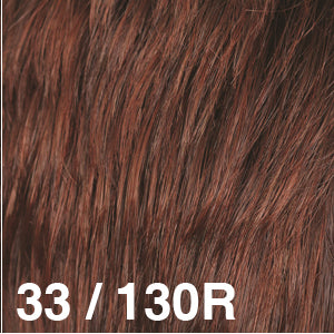 Dream Wigs USA | 33/130R Medium Brown (10) blended with Brightest Red (130)