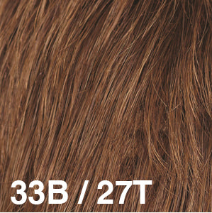 Dream Wigs USA | 33B/27T Burgundy (33) base blended with Strawberry Blonde (27) tips