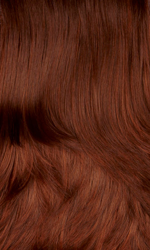 33H | Dark auburn with copper red highlights