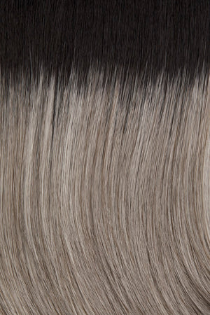 38/56GR | Silver white highlighted with light	grey	 			and	light	brown	and	off	black	roots