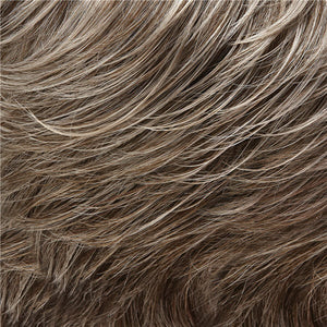Allure Wig by Jon Renau LIGHT ASH BROWN W 75% GREY FRONT & MED BROWN W 35% GREY NAPE (39F38)