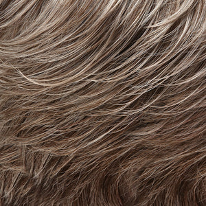 Jon Renau Wigs - Color LIGHT ASH BROWN W 75% GREY FRONT & MED BROWN W 35% GREY NAPE (39F38)