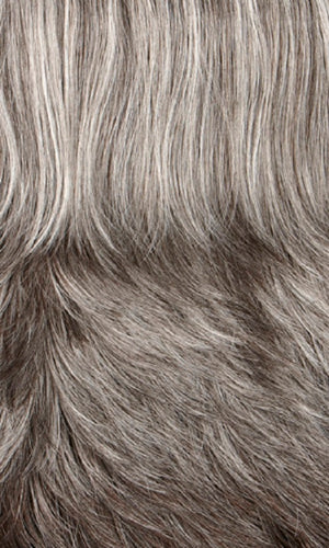 Henry Margu Wigs | 43 | Medium dark brown mixed grey on top graduating to dark brown mixed grey in back