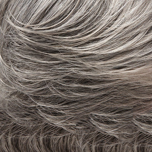 Jon Renau Wigs - Color GREY W 5% MEDIUM BROWN FRONT, GREY W 30% MEDIUM BROWN MIDDLE, DARK BROWN W 65% GREY NAPE (92)
