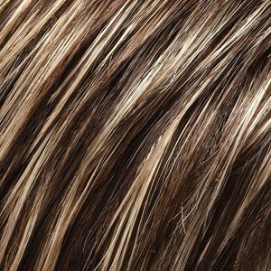 Jon Renau Wigs - Color DARK BROWN W GOLD BLONDE HILITES (4F)