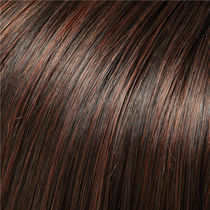 Clip in Bangs - Color DARK BROWN & DARK RED BLEND (4/33)