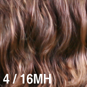 Dream USA Wigs | 4-16MH Dark Brown (4) base mixed and highlighted with Honey Blonde (16)