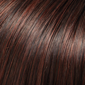 Jon Renau Wigs | 4/33 CHOCOLATE RASPBERRY TRUFFLE | Darkest Brown and Medium Red Blend