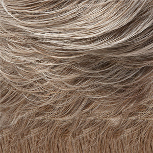 Allure Wig by Jon Renau LT GREY W/ 25% MED NATURAL GOLDEN BLONDE FRONT, GRADUATING TO LT BROWN W/ 75% GREY NAPE(54F48)