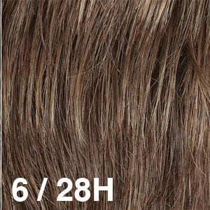 Dream Wigs USA | 6/28H Medium Chestnut Brown (6) highlighted with Copper Gold (28)