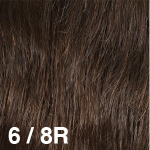 Dream USA Wigs | 6-8R Medium Chestnut Brown (6) frosted with Medium Ash Brown (8)
