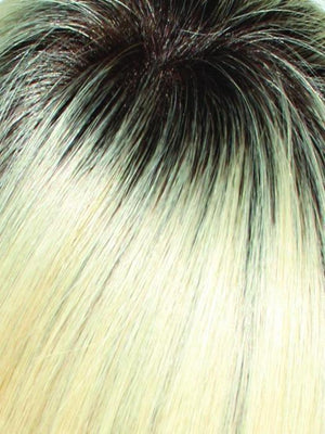 613/102S8 | Pale Natural Gold Blonde and Pale Platinum Blonde Blend Shaded with Medium Brown