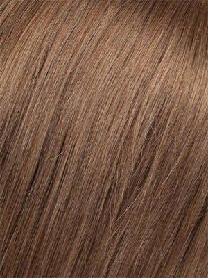 6/10T | Medium Dark Brown Blended with Medium Chestnut Brown with Golden Brown Tips
