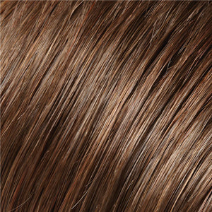 Clip in Bangs - Color BROWN & DARK RED BLEND (6/33)