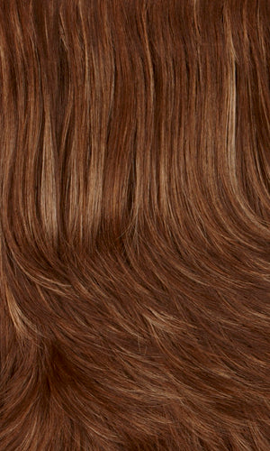 8/14H | Medium & dark brown with dark blonde & subtle auburn highlights