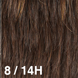 Dream Wigs USA | 8/14H Medium Ash Brown (8) highlighted with Light Golden Brown (14)