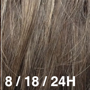 Dream USA Wigs | 8-18-24H Medium Ash Brown (8) highlighted with Light Ash Brown (18) and Golden Blonde (24)