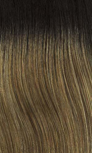 Henry Margu Wigs | 8/27/26/GR | Medium brown with strawberry & gold blonde highlights and medium dark brown roots