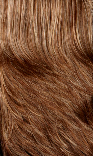 Henry Margu Wigs | 8/27/33H | Medium brown with gold blonde strawberry & auburn highlights