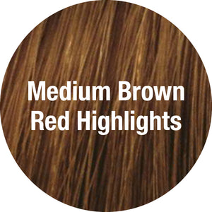 TressAllure Wigs | Medium Brown Red Highlights
