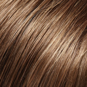 Jon Renau Wigs | 8RH14 HOT COCOA | Medium Brown with 33% Medium Natural Blonde Highlights