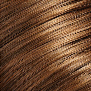Clip in Bangs - Color MEDIUM BROWN & GOLDEN RED BLEND (8/30)