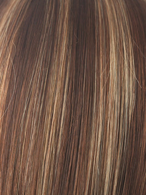 Rene of Paris Wigs | AUBURN-SUGAR | Medium Auburn base with a Dark Strawberry Blonde highlight