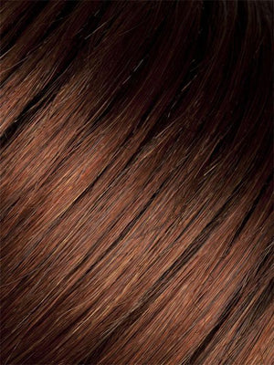 Ellen Wille Wigs | AUBURN ROOTED | Dark Auburn, Bright Copper Red, and Warm Medium Brown blend with Dark Roots