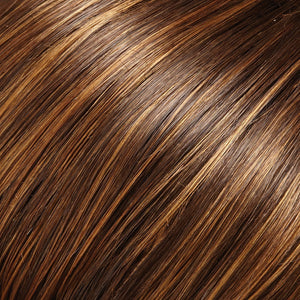 Hair Pieces Women - Color BROWN WITH LITE RED-GOLD BLONDE HIGHLIGHTS & TIPS (6F27)