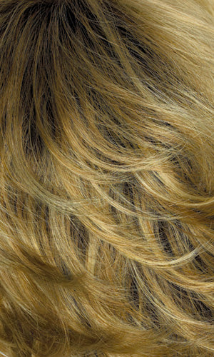 BUTTERNUT-Gold blonde with light blonde highlights and brown roots